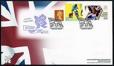 Fdc 2012 Chris Hoy Cycling Keiri Gold Medal First Day Cover London Olympic Games