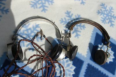 Two Pairs Of Vintage Military-Style Headphones