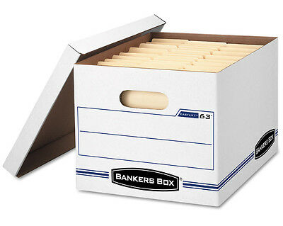 Bankers Box 12 Pack Boxes Lightweight Strong Compact Easy to Transport