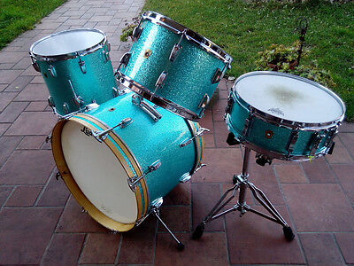 LUDWIG down beat  ACQUA SPARKLE  1960  batteria drum set kit vintage
