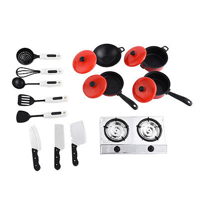 13pcs Kitchen Cooking Child Pretend Play Toy Preschool Plastic Cookware Toys