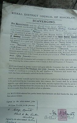 Contract of Scavenging 1917,Hinckley Council