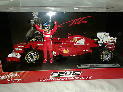 Hot Wheels Ferrari F2012 F. Alonso Malesia Malaysian GP 1/18
