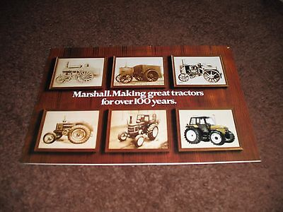 Marshall  TRACTOR BROCHURE,models 302 to 804