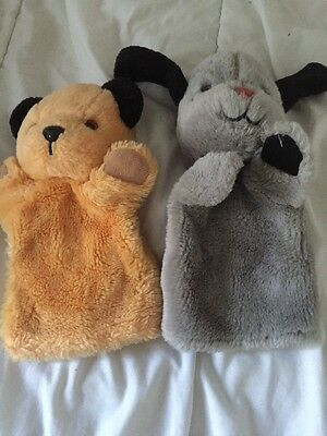 Vintage Sooty & Sweep Plush Hand Puppets