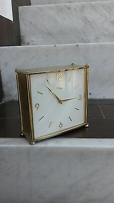 ORLOGIO  DA TAVOLO IMHOF ANNI 70 TABLE CLOCK IMHOF  70 perfect clock BIG !!