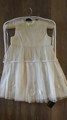 GORGEOUS **M&S** BABY GIRL DRESS (wedding?) - 12-18 MONTHS -BNWT!!