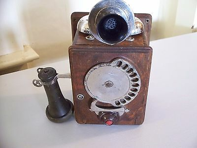 Antique Strowger Chicago Automatic Dialer  11 Digit Telephone Very Complete Wow