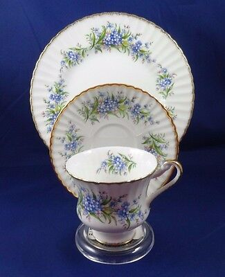 Paragon China Remember Me Tea Cup / Saucer/ plate TRIO Set Made in England