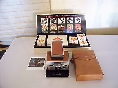 Polaroid Sx-70 Land Camera With Accessory Kit High Quality Camera Is Tested Work