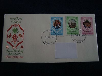 Republic Of Maldives - Royal Wedding 1981 First Day Cover