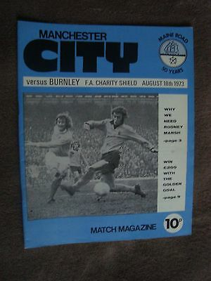 1973 Charity Shield - Manchester City V Burnley  (Maine Road)