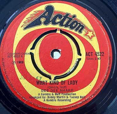"Dee Dee Sharp ""What Kind Of Lady"" 7"" UK Single Action Label, Northern Soul, Mod."