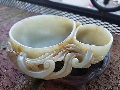 Very Beautiful Old Chinese Jade Brush Washer.