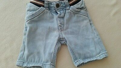 Baby demin shorts age 9-12 months
