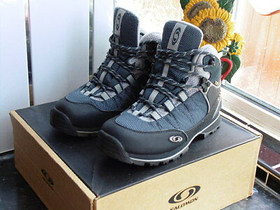 Women's Black/blue/grey Salomon Protrek 5 Gtx Boots Size Uk 5/4.5