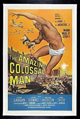 AMAZING COLOSSAL MAN ✯ CineMasterpieces ORIGINAL GIANT MONSTER MOVIE POSTER 1957