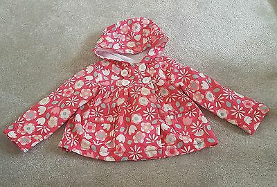 George pink floral summer rain coat / jacket. Baby Girl aged 12 - 18 months.