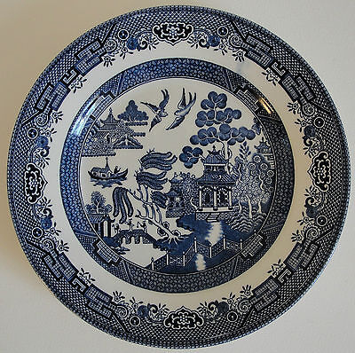 Churchill Blue Willow Pattern Plate - Staffordshire England