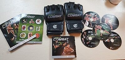 Combat 5 DVD Fitness & Nutrition Guides Tape measure large gloves Excellent