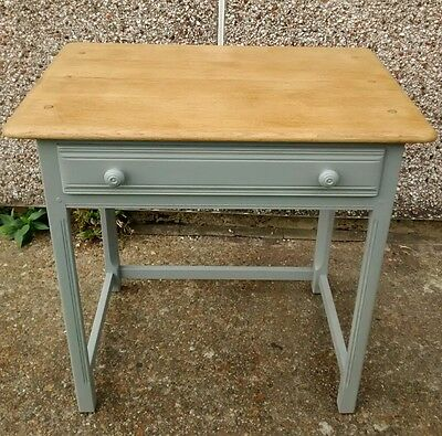 Antique Retro Ercol Dressing Table Hand Painted Grey