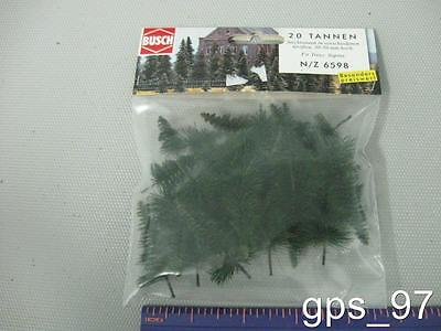 Z / N - Busch 6598  Fir Trees (Pack of 20 Pieces) - NIB