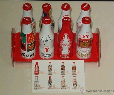 cocacola music experience limited spanish editon 8 mini bottles