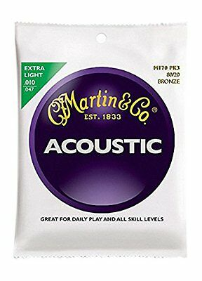Martin Acoustic Guitar Strings 3 Sets Pack 80/20 Bronze M-170Pk3 .0 F/S .