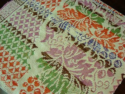 Beautiful Antique Late 1800 Woven Coverlet Piece ~ Lancaster County Pa
