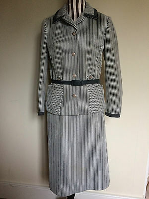 VINTAGE SIMPSON OF PICCADILLY Suit - Jacket and Skirt (with original belt).