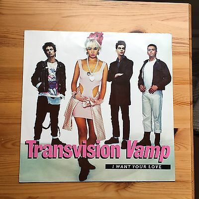"""Transvision Vamp I Want Your Love 12"""" Vinyl Single."""