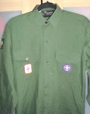 Vintage Boy Scout Shirt Compete with Award and District Badges