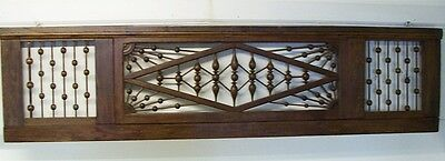 Victorian Architectural Salvage Pediment Wood Trim Fretwork Stick and Ball
