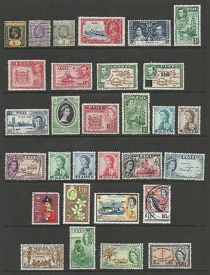 Fiji Stamps 30 Mint Never Hinged/MH/Used #85a // #248 & #B1-4 CV $37.25  LA20