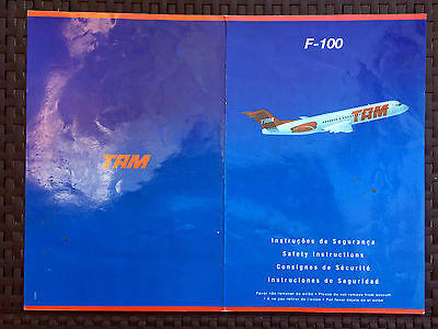 TAM F-100 safety card