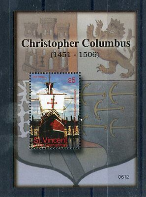 st vincent and grenadines 2006 bf 608 cristoforo colombo mnh