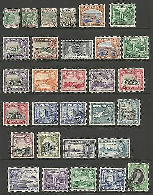 Cyprus Stamps - 60 Mint Never HInged/MH/Used #38 // #350 2 scans CV $88.30  LA22