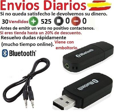 Wireless USB Bluetooth Stereo Audio 3.5mm Music Speaker Receiver Adapter Dongle