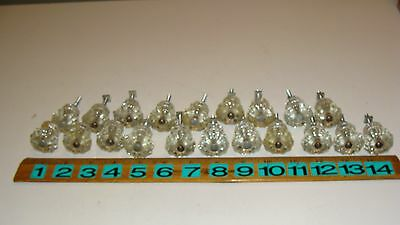 Lot of 20 Antique Vintage Glass Cupboard Cabinet Drawer Knobs Pulls