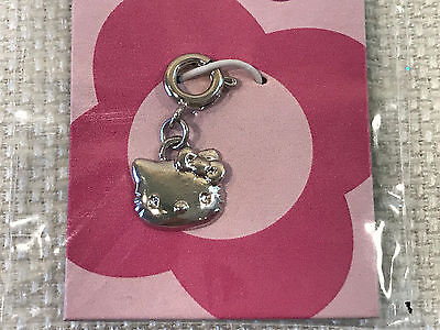 Rare Hello Kitty Face Silver Charm Bracelet Jewelry, 2004, NEW IN PACKAGE