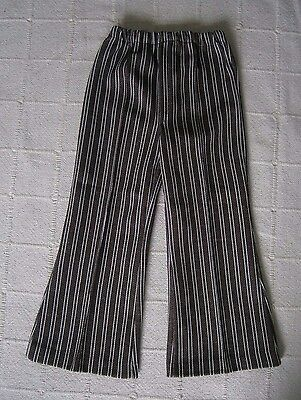 Vintage Stretch Flared Trousers - Age 3-98 cm - Brown & white Stripe- New