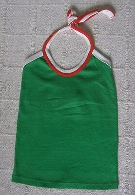 Vintage Ladybird Sun Top - Age 5-6 Years Approx- Green/Red/White - Cotton - New