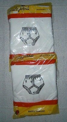 2 Pairs Vintage Boys Briefs - Age 4 Years - Wool Mix - Ladybird -  New