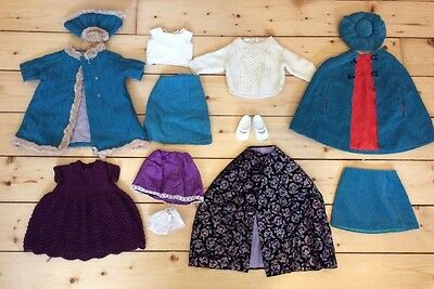 """Vintage 20"""" Doll Clothes Bundle Mary Jane Shoes Hand Made Original"""