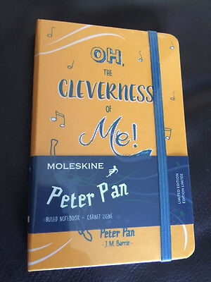 NEW Moleskine Limited Edition Peter Pan, Notebook, Pocket, Ruled YELLOW Sealed