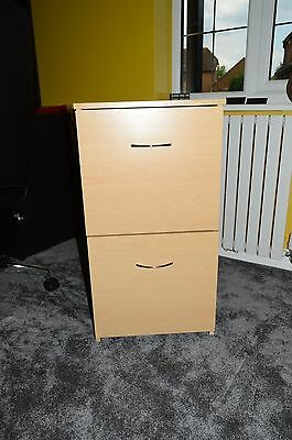 Beech Effect 2 Drawer Filing Cabinet