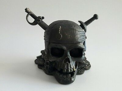 Disney Pirates of Caribbean Skull Paper Weight Carribean Desk Accessory Swords