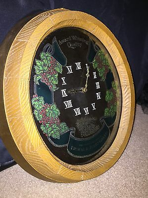 Ernest & Julio Gallo Vintage Mirrored Wine Barrel Clock