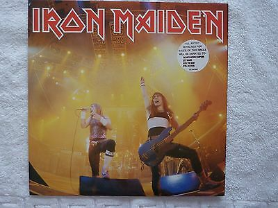 """Iron Maiden - Running Free 12"""" Nr Mint Includes Poster"""