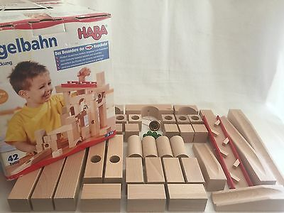 HABA Ball Track Large Basic Set Wooden 42 Pieces Germany